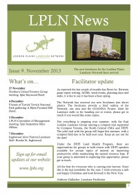 November 2013 newsletter cover