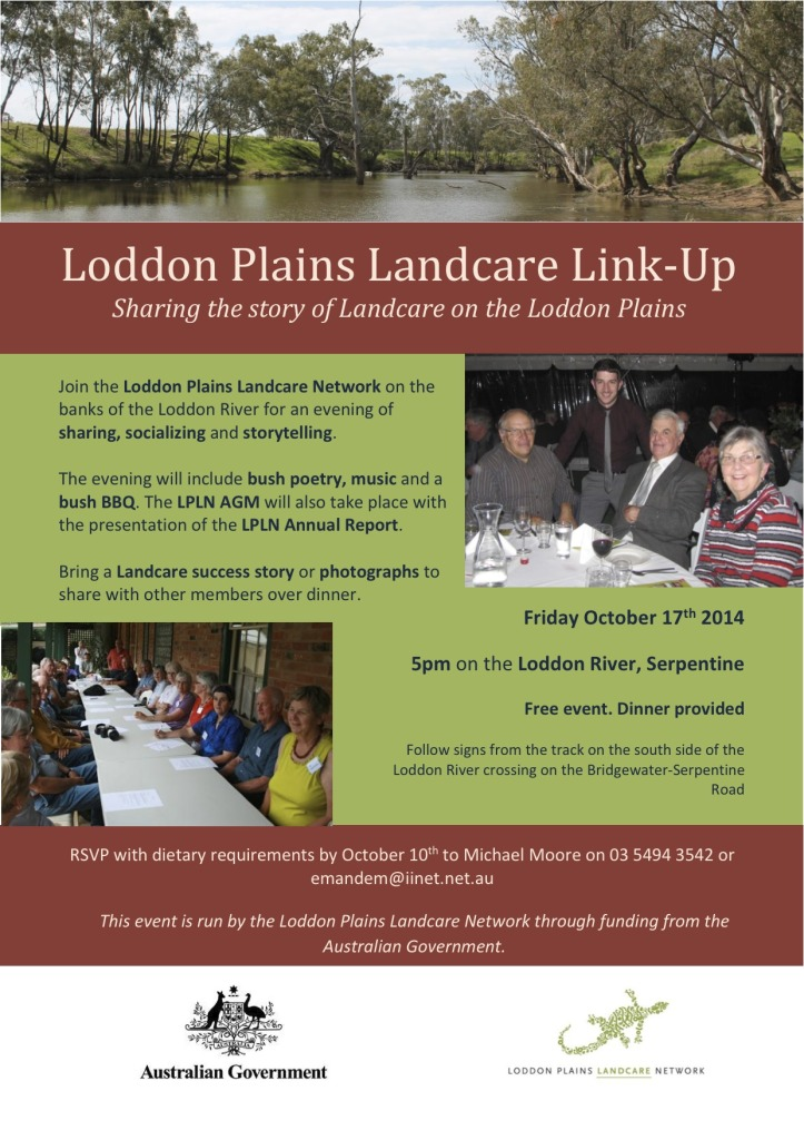 Loddon Plains Landcare Link-up Flyer