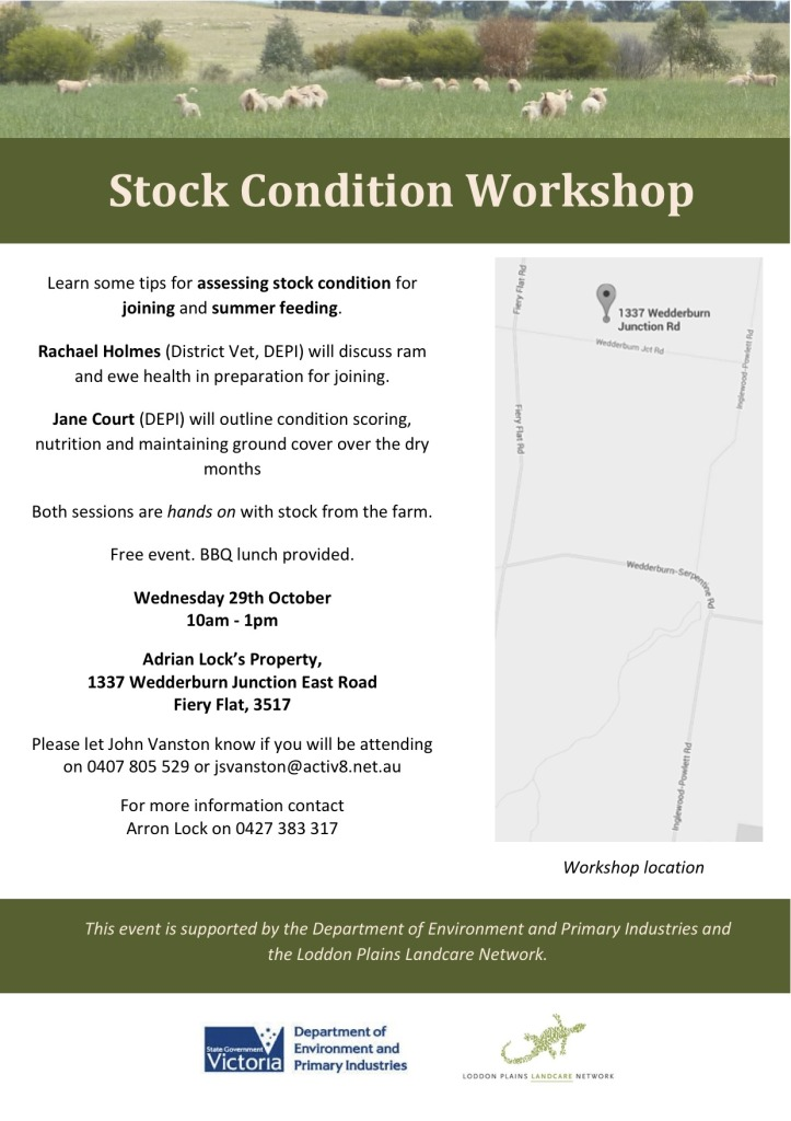 Stock Condition Workshop flyer