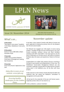 November newsletter cover