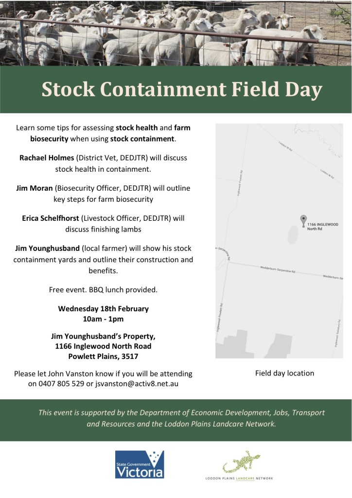 Stock Containment Field Day Flyer