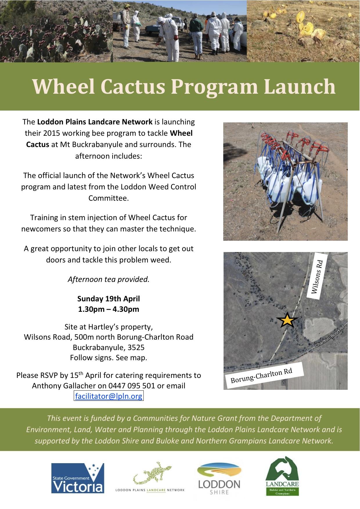 Wheel Cactus program launch flyer April 2015
