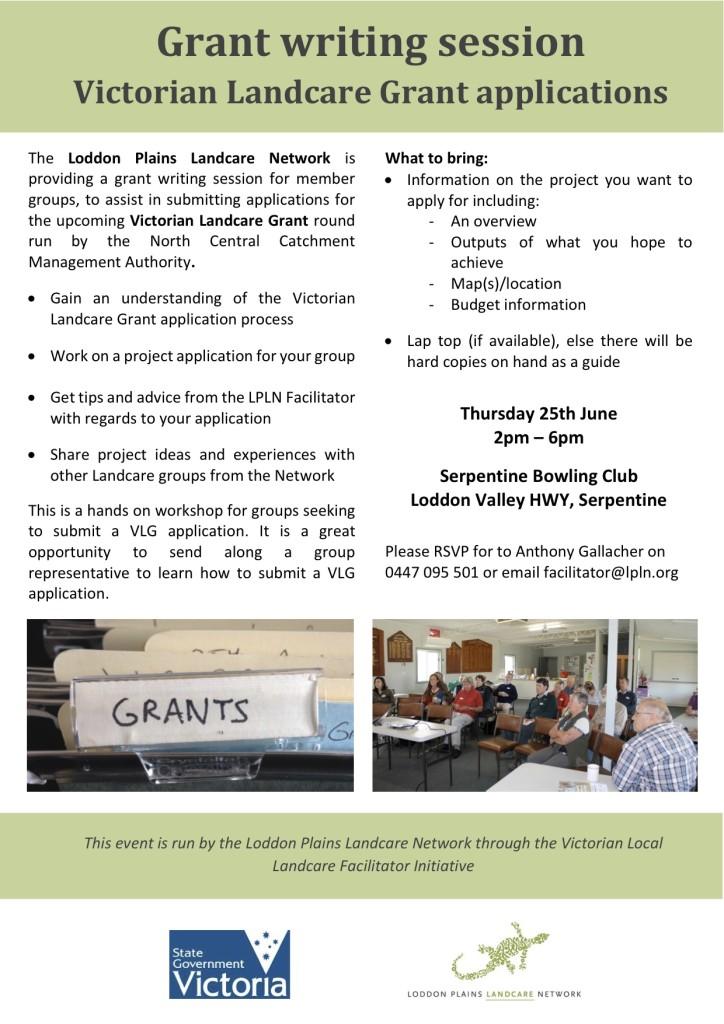 LPLN Grant writing session for VLG - June 2015