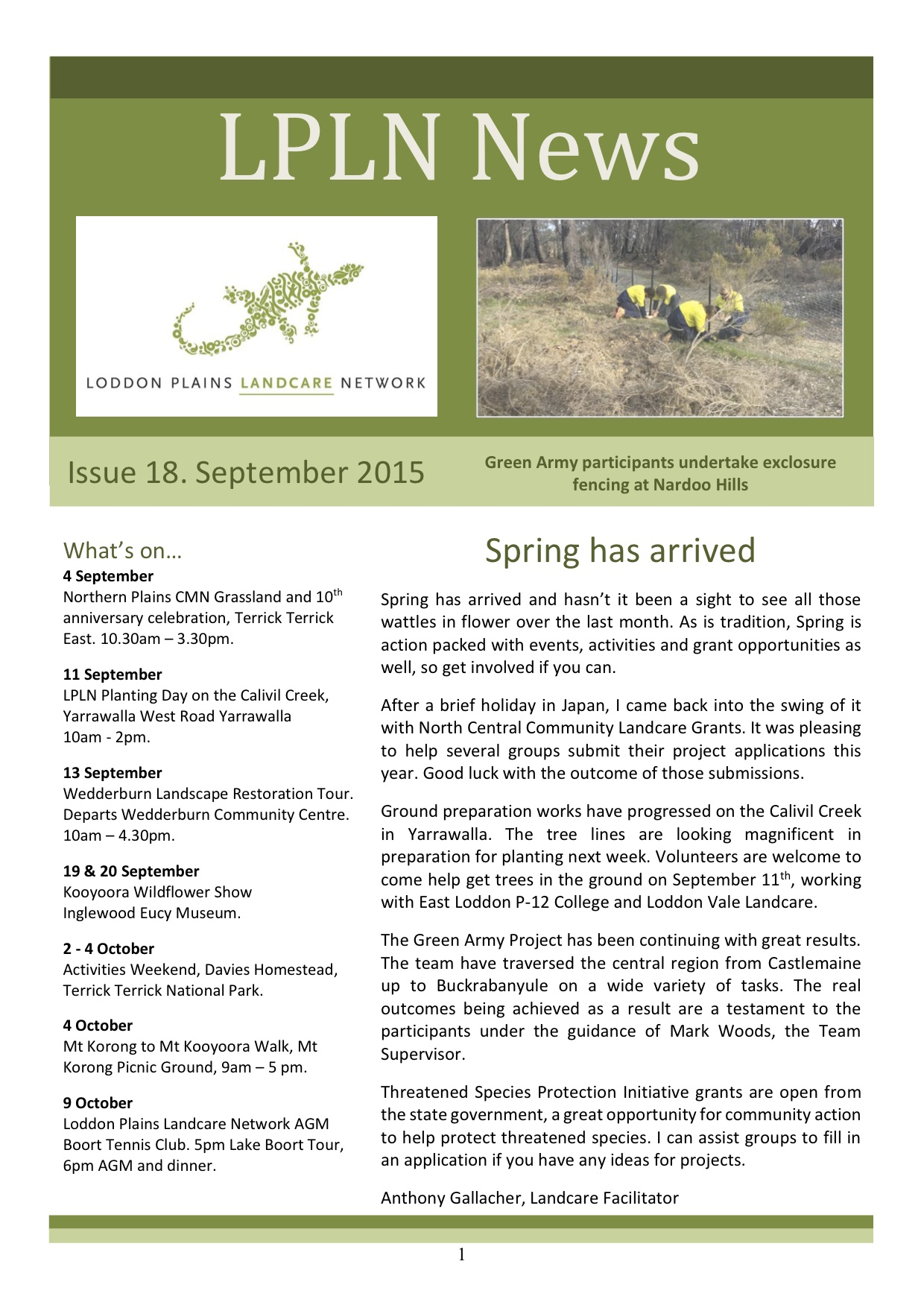 LPLN Newsletter April 2015