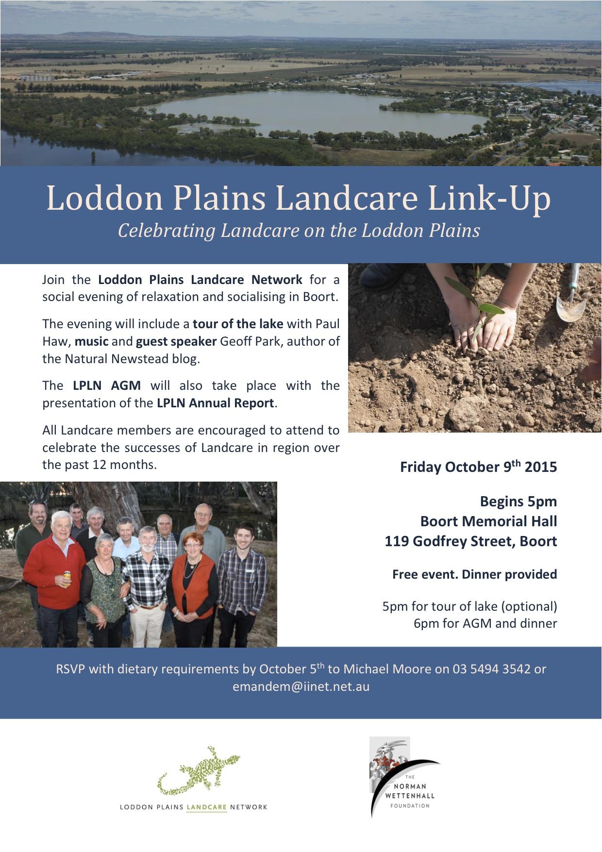 Loddon Plains Landcare Link-up Flyer 2015