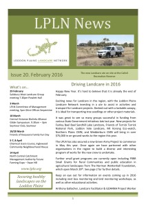 LPLN newsletter February 2016 cover