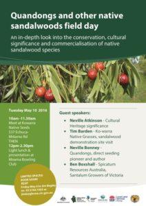 Event Reminder - Quandong & Sandalwoods