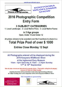 2016 Kooyoora Photographic competition