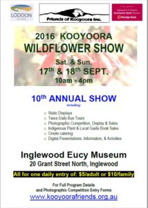 2016 Kooyoora wildflower show