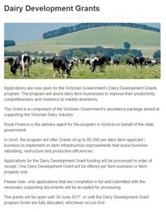 dairy-development-grants